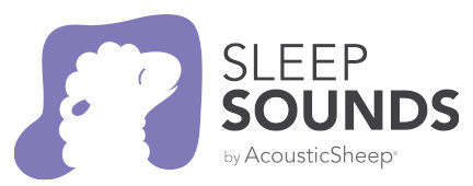 Sleep Sounds by AcousticSheep sheep laying on pillow music note purple