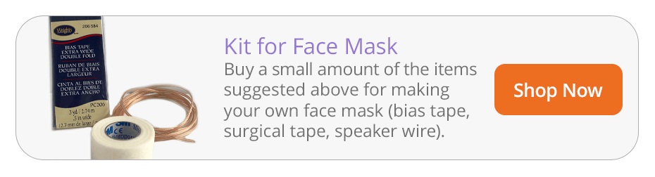 DIY Face Mask Kit with Bias Tape, Surgical Tape, and Speaker Wire