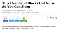 Huffington Post Article — This Headband blocks out noise so you can sleep