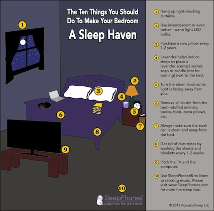 INFOGRAPHIC: 10 Ten Things You Should DO To Make Your Bedroom A Sleep Haven