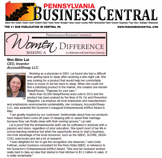 PA Business Central - women making a difference